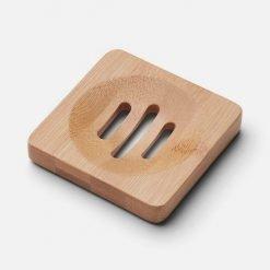 Sæbeholder i bambus kvadrat