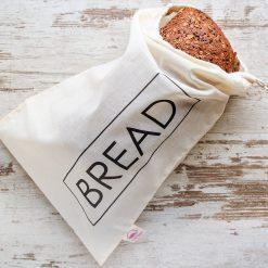Brødpose med tekst