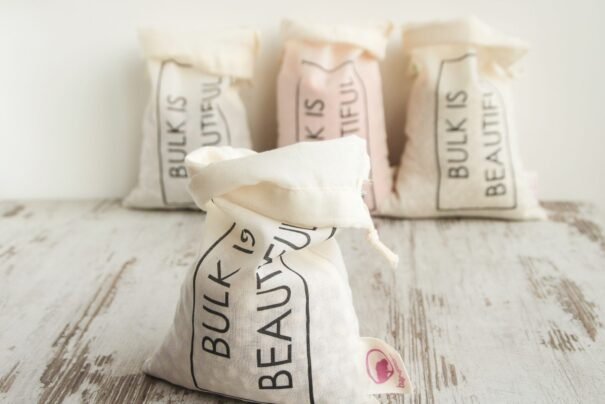 Lille bomuldspose i økologisk bomuld