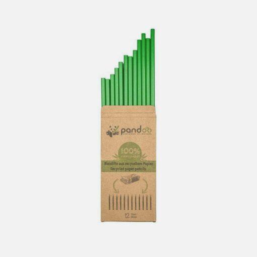 Miljøvenlige blyanter af genanvendt avispapir