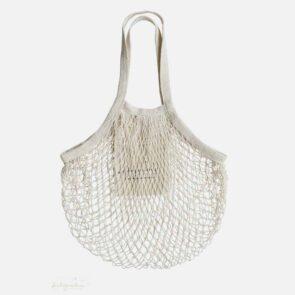 String bag med lang hank natur
