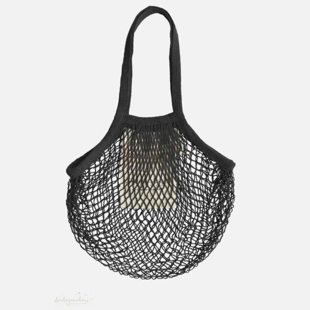 String bag med lang hank sort