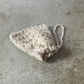 Håndstrikket sæbepose - Fairtrade