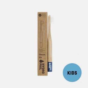 Bambustandbørste til børn i blå