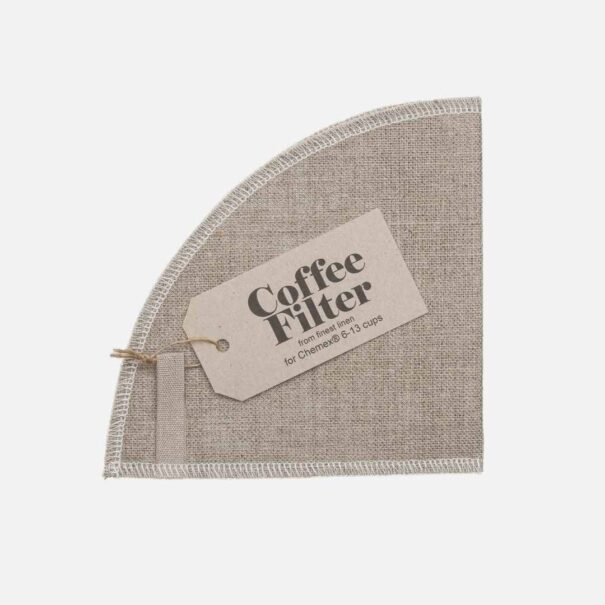 Genanvendeligt kaffefilter i hør til Chemex kaffebrygger