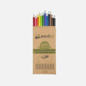 Miljøvenlige farveblyanter af genanvendt avispapir